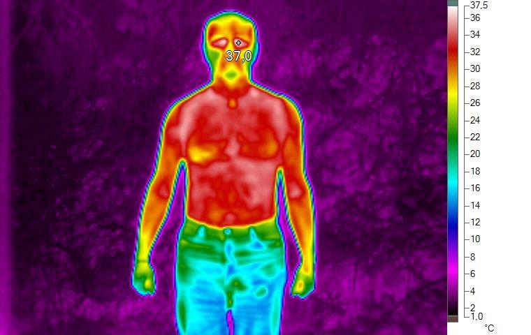 Termoprádlo pod termokamerou 3