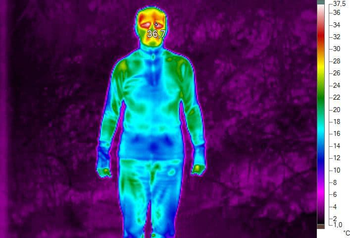 Termoprádlo pod termokamerou 2