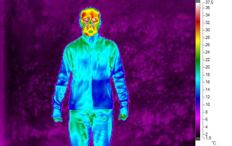 Termoprádlo pod termokamerou 6